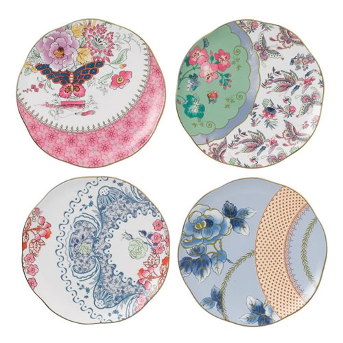Butterfly Bloom Tidbit Plate Set