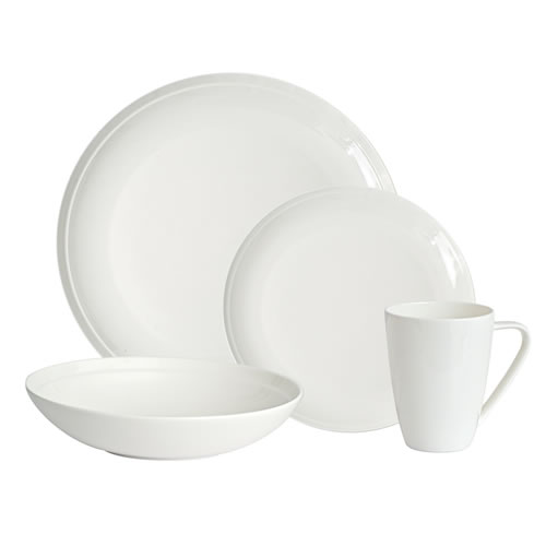 Edge Bone China 16 Piece Dinner Set
