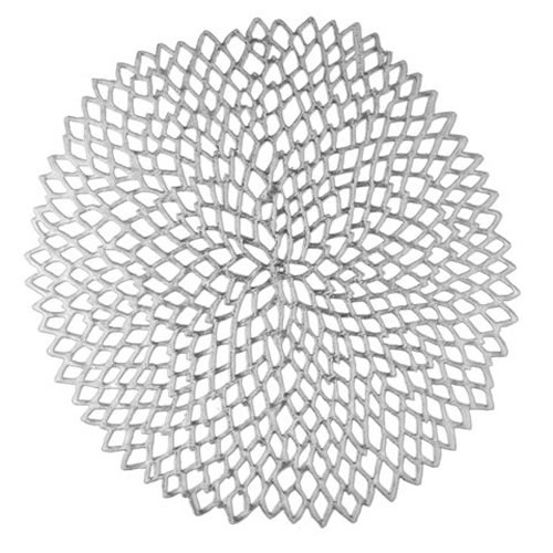 Dahlia Placemat in Silver