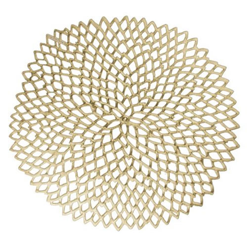 Dahlia Placemats in Brass