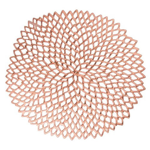 Dahlia Placemats in Rose Gold