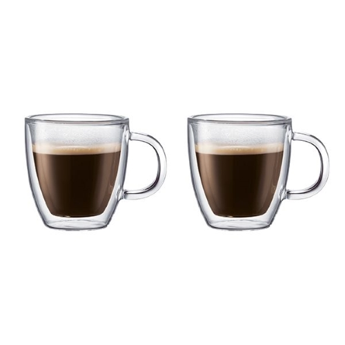 Bistro Double Walled Thermo Glass Mug Set