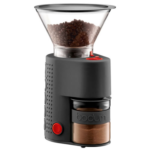 BISTRO Electric Adjustable Coffee Grinder Black