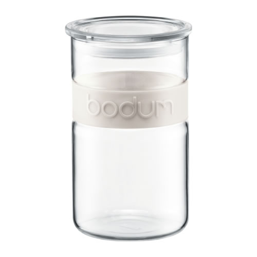 Colourpop Storage Jar 1L with Silicone Band in Ivory