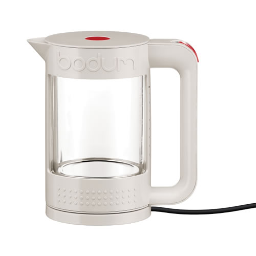 White Double Wall Electric Water Kettle 1.1 l
