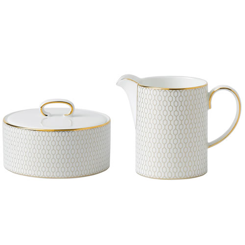 Arris Covered Sugar & Creamer