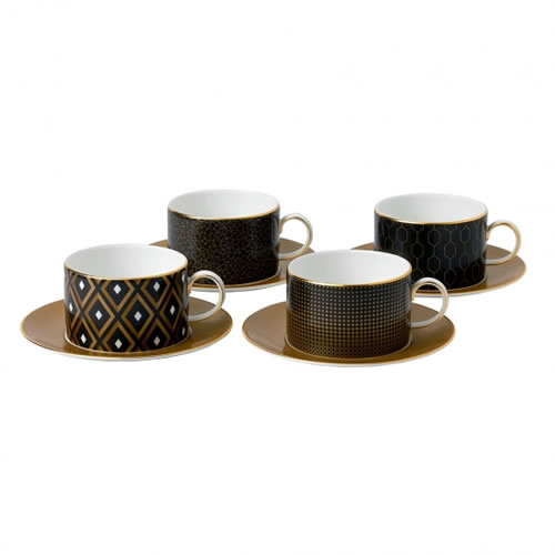 Arris Teacups & Saucers Set