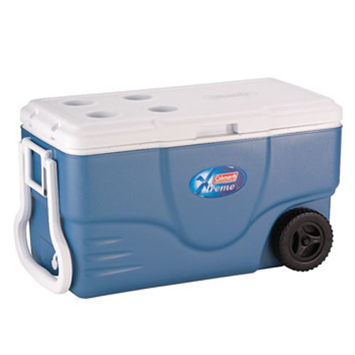 Extreme Wheeled Cooler 58Ltr in Ice Blue