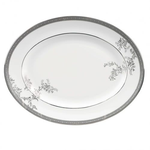Lace Platinum Accessories Oval Dish 39cm