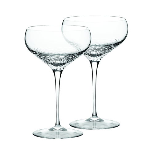 Sequin Crystal Champagne Saucers