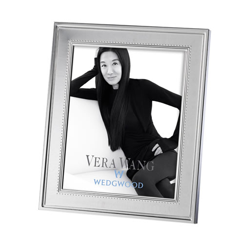 Grosgrain Silver Plated Frame 20x25 To Fit 8x10 Photo