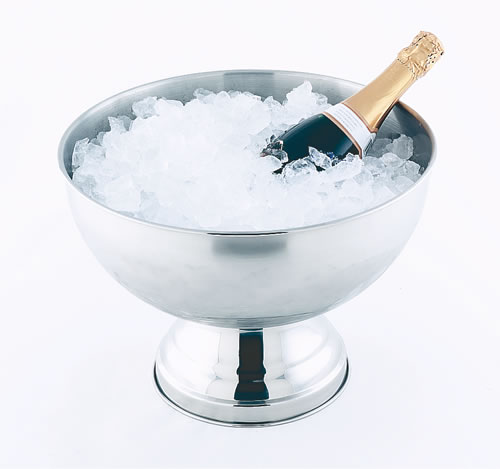 Champagne and Punch Bowl in Stainless Steel