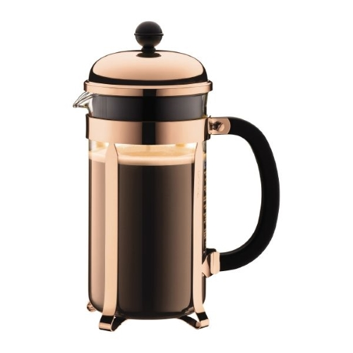 Copper Chambord Coffee Maker 8 Cup 1L