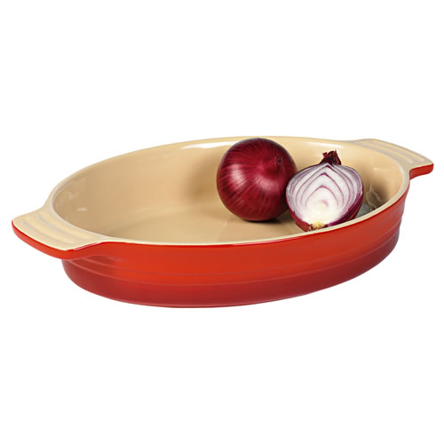 Federation Red Large Oval Baking Dish 32cm