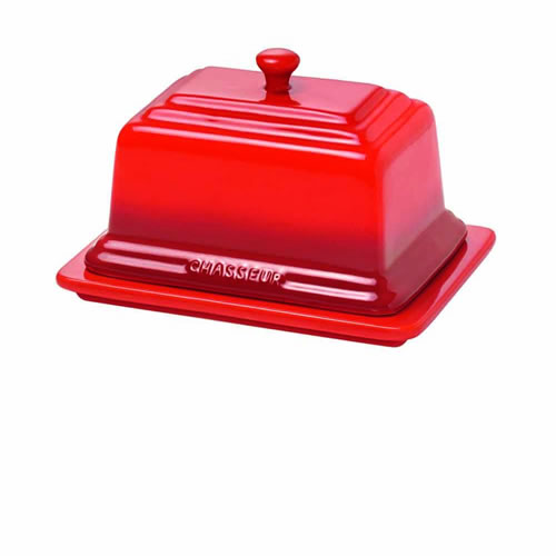 Chasseur Butter Dish in Red