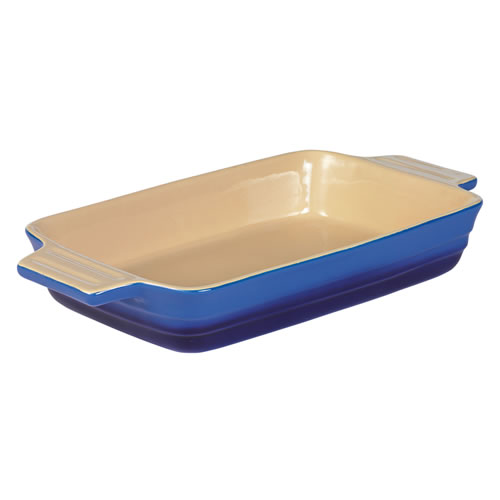 French Blue Large Rectangular Baking Dish 32cm