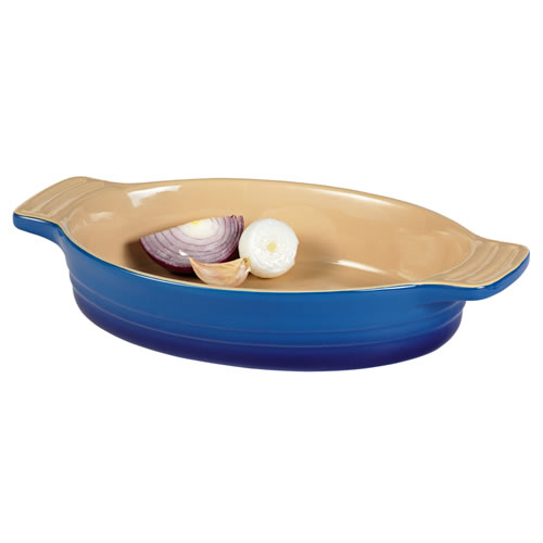 French Blue Medium Oval Baking Dish 28cm