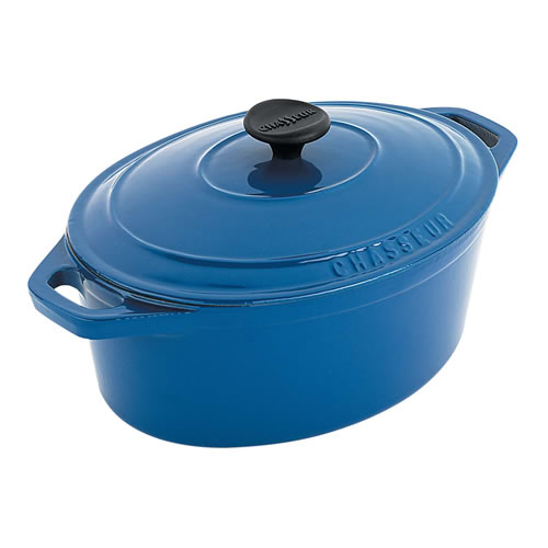 French Blue Oval French Oven 27cm 3.6Ltr