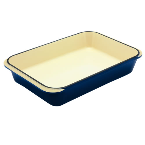 French Blue Rectangular Roaster 40cm