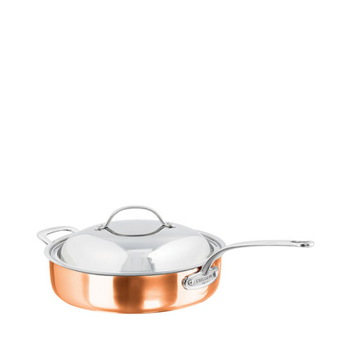 Escoffier Saute Pan with Lid and Helper Handle 28cm