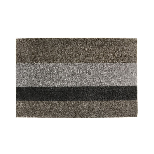 Door Mat in Bold Solid Black Stripe  46x71cm