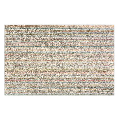 Door Mat in Skinny Stripe Soft Multi 46x71cm