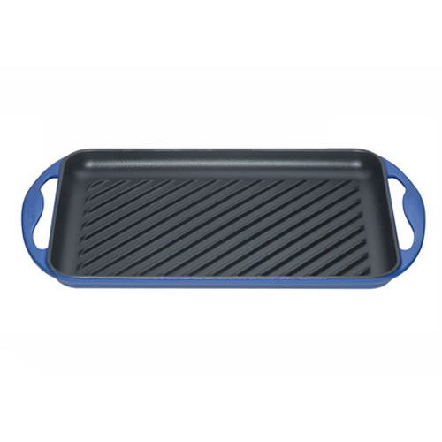 Marseille Blue Rectangular Grill 32.5x22