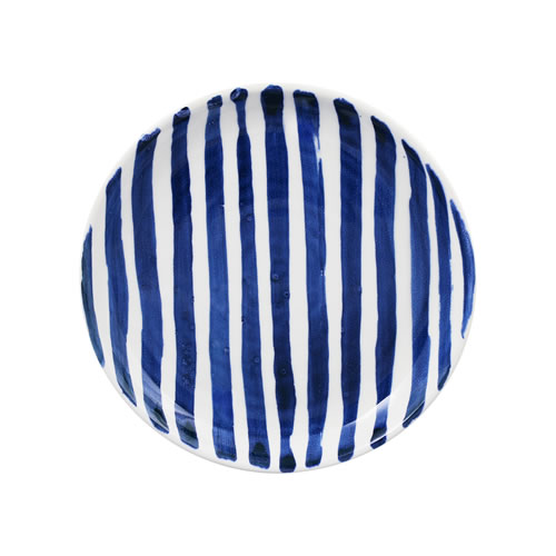 Indigo Brush Stripe Side Plate