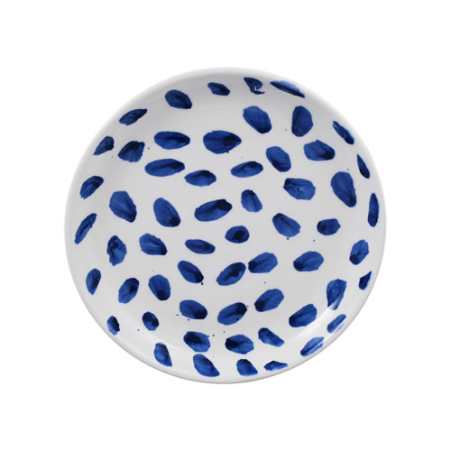 Indigo Brush Side Plate in Spot