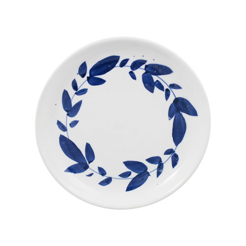 Indigo Brush Wreath Side Plate