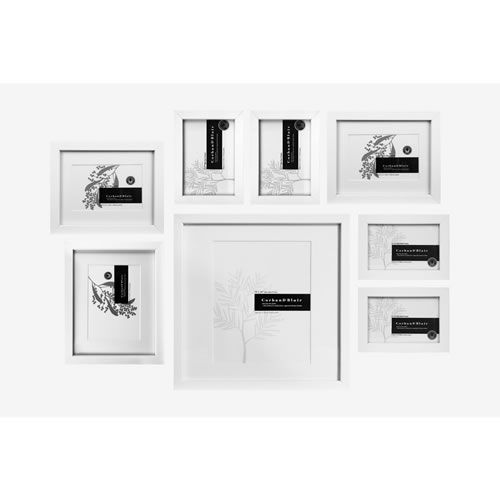 Slim Wall of Frames in White