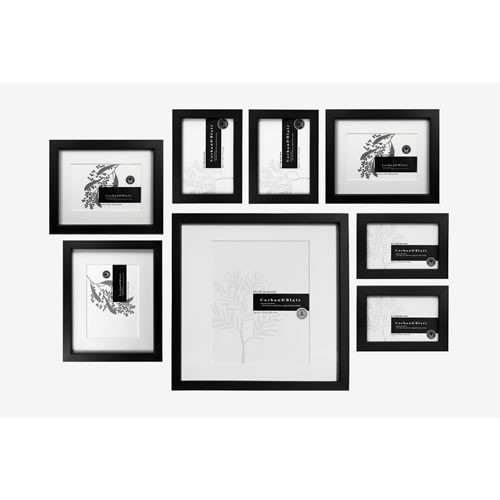 Slim Wall of Frames in Black
