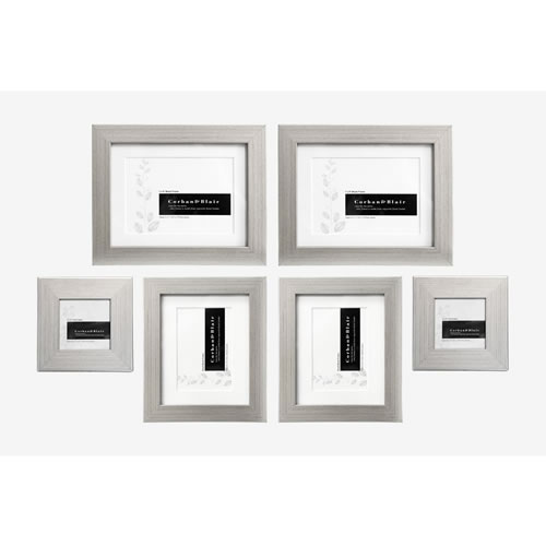 Slim Wall of Frames in Silver
