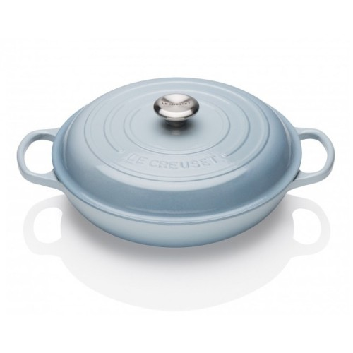 Coastal Blue Signature Shallow Casserole 30cm plus a FREE PAIR OF SALT & PEPPER MILLS Valued at $130