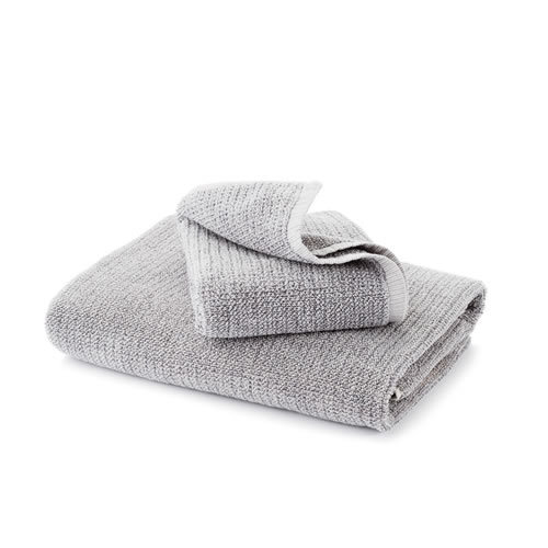 Grey Tweed Bath Towel