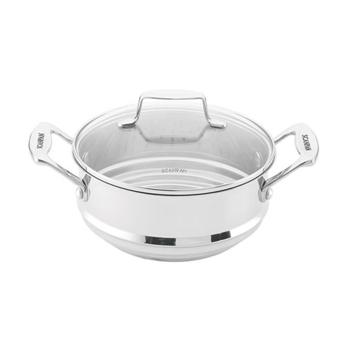 SCANPAN IMPACT 16, 18, 20cm Multi Steamer Insert with Lid