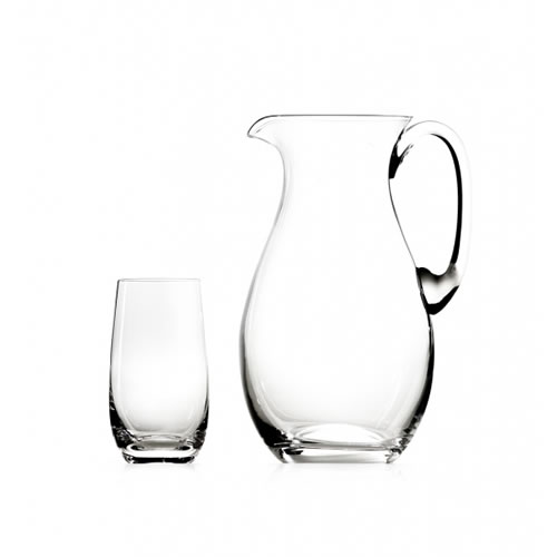 Round Jug Set with 6 Highball Glasses