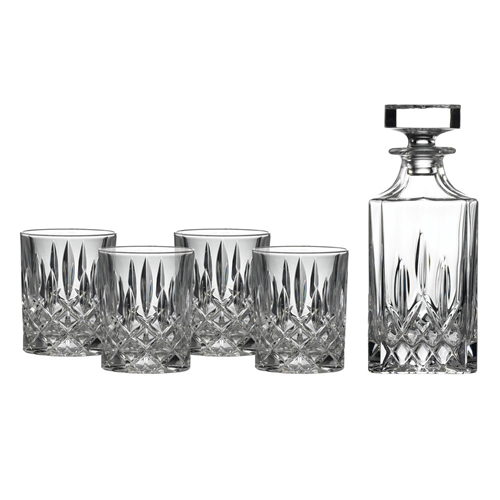 Spirit Decanter Set with Four Glasses