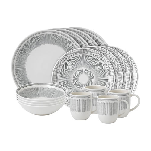 Brushed Glaze Soft White 16 Piece Set
