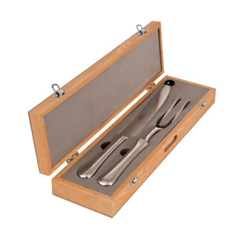 Radford Bright Carving Set in Oak Canteen