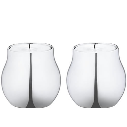 CAFU Stainless Tealight Holder Pair