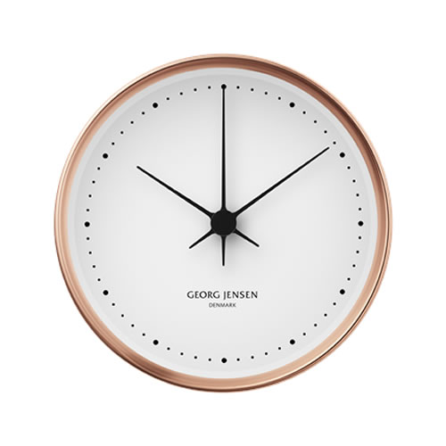 Koppel 10cm Wall Clock Copper with White Dial