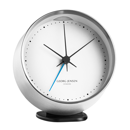 HK CLOCK W. Alarm And Holder White 10 Cm