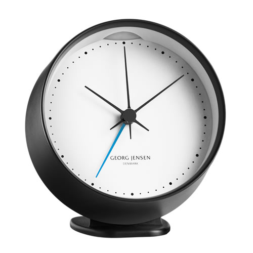 KOPPEL CLOCK with Alarm Black with White 10 cm
