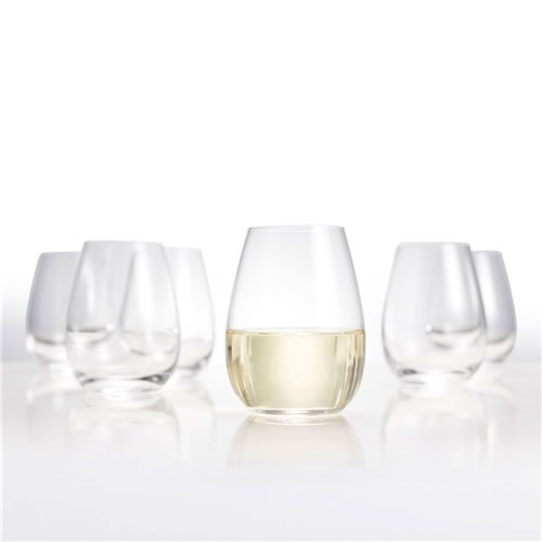SALUT Stemless Wine Glasses Set