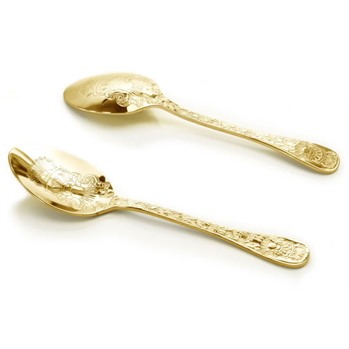 Santamarta 6 Coffee Spoons in Gold