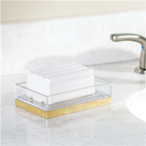 Clarity Soap Dish - Brass