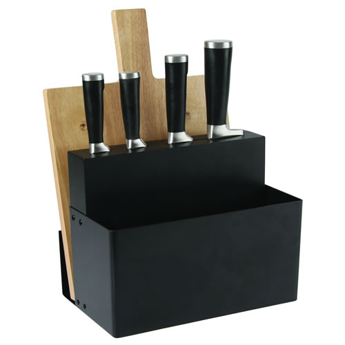 Metro Knife Block with Chopping Board and Utensil Holder