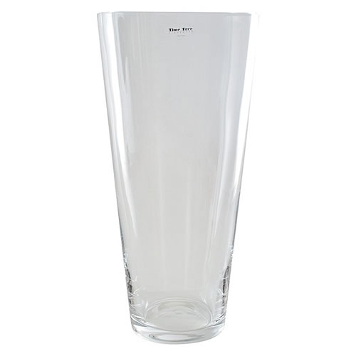 Time Tree Conical Vase 50x23cm By Time Tree Glassware