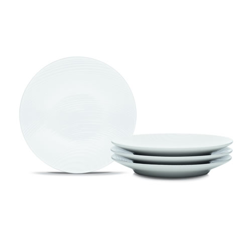 White on White Dune Appetizer Plates